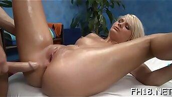 Glum 18 year old cutie gets fucked hard by her massage therapist!