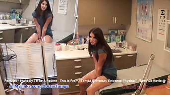 Logan Laces' New Pupil Gyno Exam By Doctor From Tampa On Overhear Cam