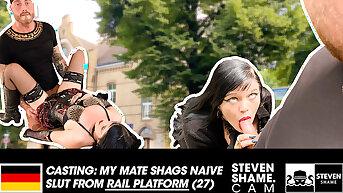 EMO girl gets fucked in the air PUBLIC! StevenShame.dating