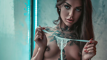 SANKTOR 063 - TATTOOED TEEN WITH Unproficient TITS IS Chaffing