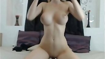 YOUNG & INNOCENT TEEN BEAUTY RIDING DILDO WITH HER PERFECT BODY