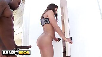 BANGBROS - 19 Year Superannuated PAWG Abella Danger Wrecked By Rico Strong's Big Black Cock