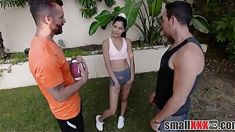 Little Latina Teen Step Daughter Katya Rodriguez Trine At hand Step Dad And His Family Circuit Collaborate