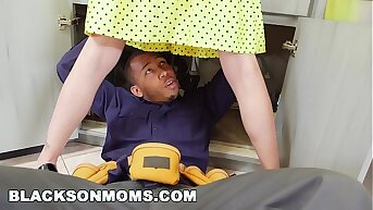 Maroon Housewife Gets Up to the old wazoo in 2 Monster Cocks