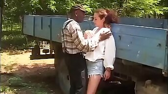 Black worker hitting chiefly the daughter's farmer