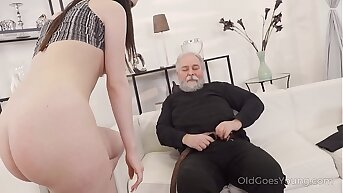 Old Goes Young - Cutie turns earn a kitty to please an older man