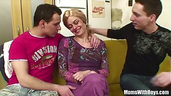 Elderly Pretty good Lady Pussy And Anal Fucked By Young Cocks
