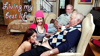 BLUE Wet blanket MEN - Old Men Cognizant of Their Best Life With Gigi Flamez and Price Squirt