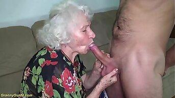 chubby hairy 91 years old mom b. fucked